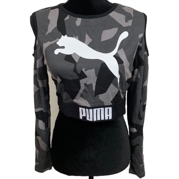 e570443bfa014 Puma Cold Shoulder Cropped Top. M 5bda5b0baa877015a5ca0d51